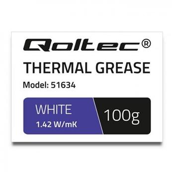 QOLTEC 51634 Qoltec Thermal paste 1.42 W/m-K 100g White