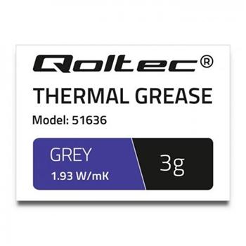 QOLTEC 51636 Qoltec Thermal paste 1.93 W/m-K 3g grey