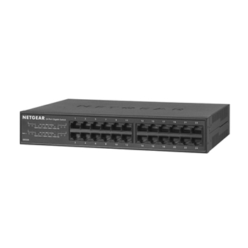 Netgear GS324 Non gestito Gigabit Ethernet (10/100/1000) Nero