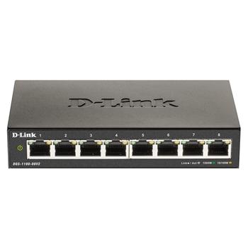 D-Link DGS-1100-08V2 switch di rete Gestito Gigabit Ethernet (10/100/1000) Nero