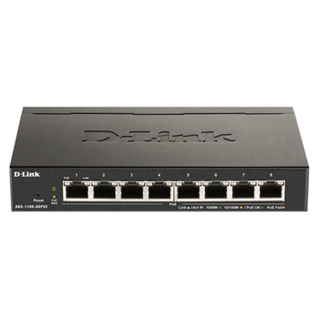 D-Link Switch 8-port 10/100/1000 DGS-1100-08PV2