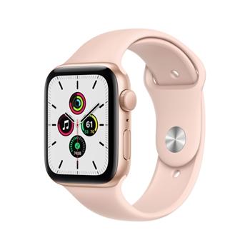 Apple Watch SE GPS, 44mm in alluminio oro con cinturino Sport Rosa sabbia
