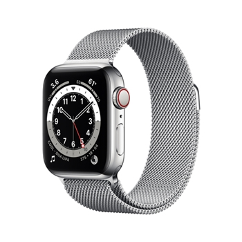 APPLE Watch Series 6 GPS + Cellular 40mm Silver Stainless Steel Case with Silver Milanese Loop