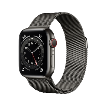 APPLE Watch Series 6 GPS + Cellular 40mm Graphite Stainless Steel Case with Graphite Milanese Loop
