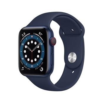 APPLE Watch Series 6 GPS + Cellular 44mm Blue Aluminium Case with Deep Navy Sport Band - Regular