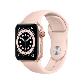 APPLE Watch Series 6 GPS + Cellular 40mm Gold Aluminium Case with Pink Sand Sport Band - Regular