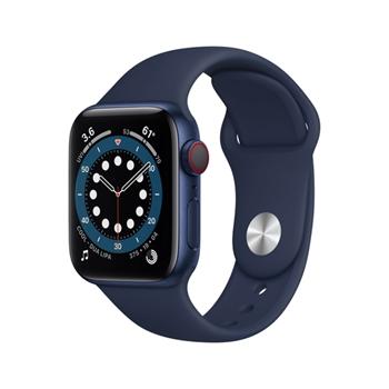 APPLE Watch Series 6 GPS + Cellular 40mm Blue Aluminium Case with Deep Navy Sport Band - Regular