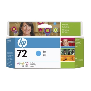 HP INC CART.INK 72 CIANO VIVERA 130 ML
