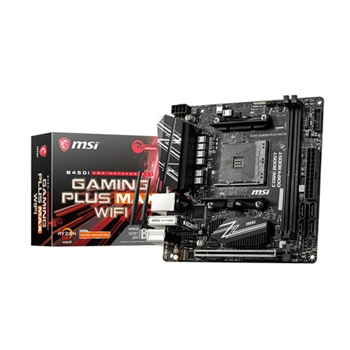 MSI B450I GAMING PLUS MAX WIFI AM4 Socket up to 3rd Gen AMD mini ITX MB 2xDIMM 64GB Max 1xPCI-e 1xM.2 WLAN BT 6xUSB3.2 DP HDMI 3YW