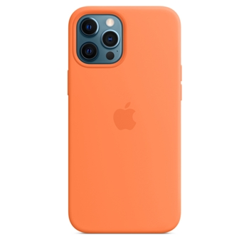 APPLE iPhone 12 Pro Max Silicone Case with MagSafe - Kumquat