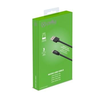 Celly USBMICRO3MBK cavo USB 3 m USB A Micro-USB B Nero