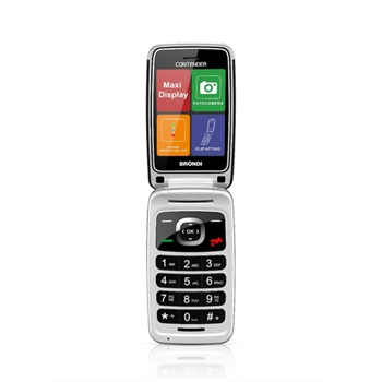 """Brondi Contender 7,62 cm (3"""") Nero Telefono per anziani"""
