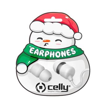 Celly XMASEARSNOWWH cuffia e auricolare Bianco Connettore 3.5 mm