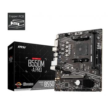 MSI B550M-A PRO Socket AM4 2xDDR4 up to 32GB mATX