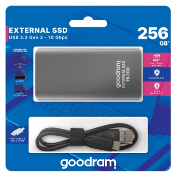 GOODRAM HL100 256GB USB 3.2 450/420 MB/s Type-C External SSD