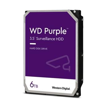 WD 6TB PURPLE 128MB 3.5IN SATA 6GB/S INTELLIPOWERRPM