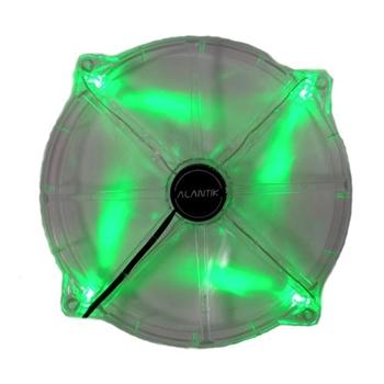 Ventola 20cm green led 3+4pin
