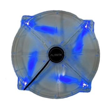 Ventola 20cm blue led 3+4pin