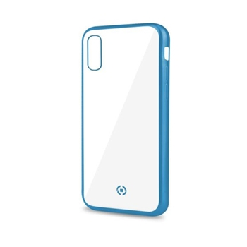 "Celly Laser Matt custodia per cellulare 16,5 cm (6.5"") Cover Trasparente, Blu"