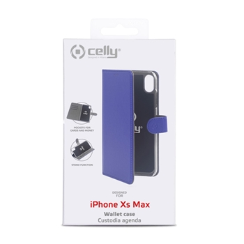 """Celly Wally custodia per cellulare 16,5 cm (6.5"""") Custodia a borsellino Blu"""