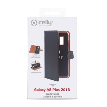 """Celly Wally custodia per cellulare 15,2 cm (6"""") Custodia a libro Nero"""