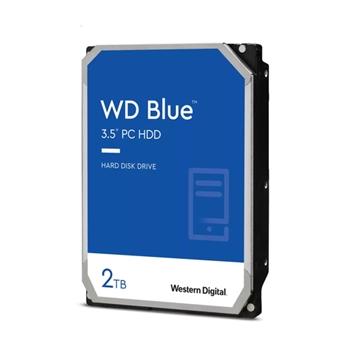 WD Blue 2TB SATA 6Gb/s HDD internal 3.5inch serial ATA 256MB cache 7200RPM RoHS compliant Bulk