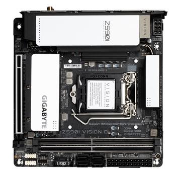 GIGABYTE Z590I VISION D LGA1200 DDR4 6xSATA 2xM.2 WiFi ATX MB