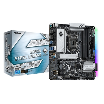 ASROCK B560M STEEL LEGEND LGA1200 4x DDR4 6x SATA3 1x Hyper M.2 1x Ultra M.2 mATX MB