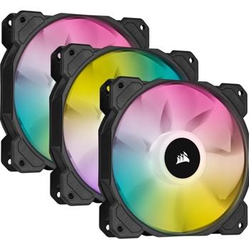 CORSAIR SP120 RGB ELITE 120mm RGB LED Fan with AirGuide Triple Pack