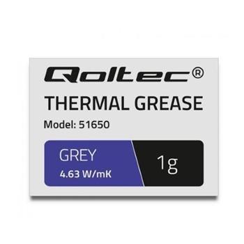 QOLTEC 51650 Qoltec Thermal paste 4.63W/m-K 1g grey