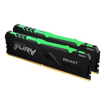 KINGSTON 16GB 3600MHz DDR4 CL17 DIMM Kit of 2 FURY Beast RGB