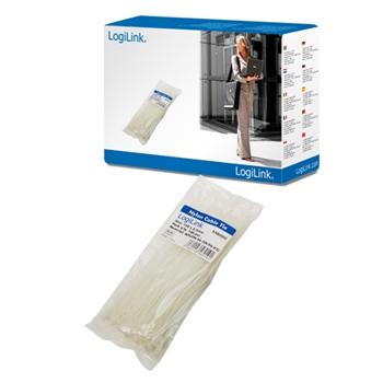 LogiLink KAB0002 fascetta Nylon Bianco