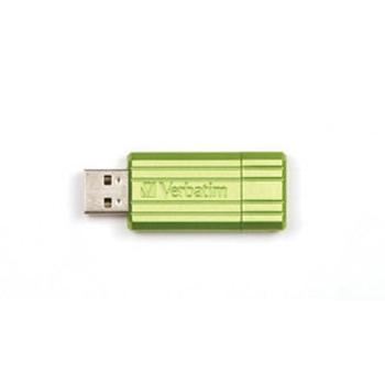 Verbatim PinStripe 8GB USB 2.0 Type-A Verde USB flash drive