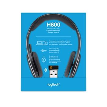 Logitech H800 Cuffia Padiglione auricolare Nero