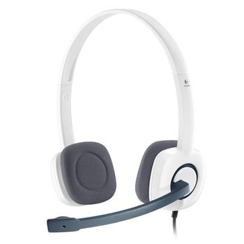 Logitech H150 Stereofonico Padiglione auricolare Bianco cuffia e auricolare