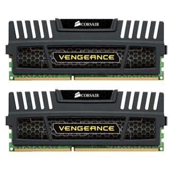 CORSAIR DDR3 1600MHz 16G Kit 2x8GB Dimm Unbuffered 10-10-10-27 with Vengeance Black Heat Spreader - Core i7 Core i5 1.5V