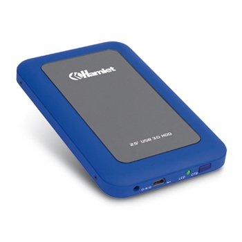 Hamlet USB 3.0 Mirror Disk box esterno per hard disk SATA 2,5'' blu