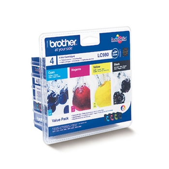 Brother LC980 Pack Originale Nero, Ciano, Magenta, Giallo Multipack 4 pezzo(i)