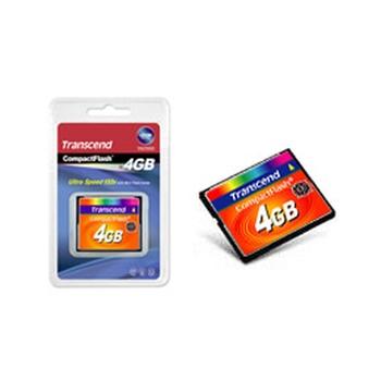 Transcend TS4GCF133 memoria flash 4 GB CompactFlash MLC