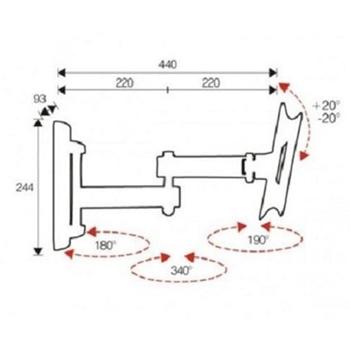 NILOX STAFFA 3 SNODI INCLIN 200X100