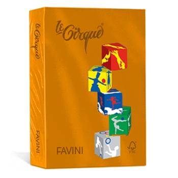 CARTOTECNICA FAVINI RISMA LE CIRQUE 80G ARANCIO TROP A4