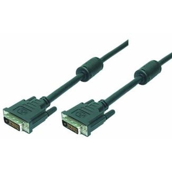 LogiLink 2m DVI-D cavo DVI Nero