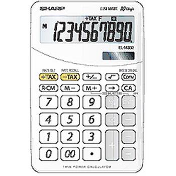 Sharp EL-332B-WH calcolatrice Scrivania Calcolatrice finanziaria Bianco