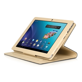Hamlet Zelig Pad Cover costudia per tablet pc da 9,7'' modello business marrone/beige