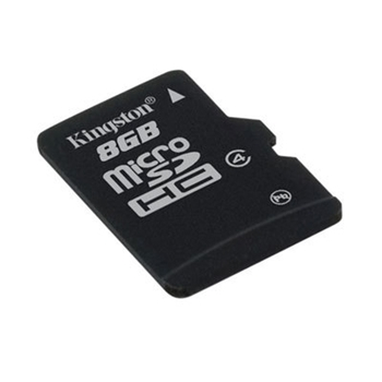 KINGSTON 8GB microSDHC Class 4 Flash Card + SD Adapter