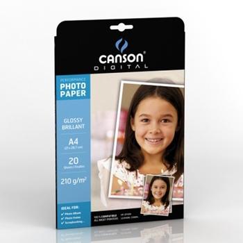 Canson Performance Glossy A4 210G carta fotografica Bianco