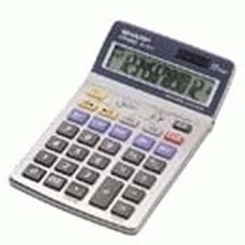 Sharp EL-337CB calcolatrice Tasca Calcolatrice finanziaria Argento