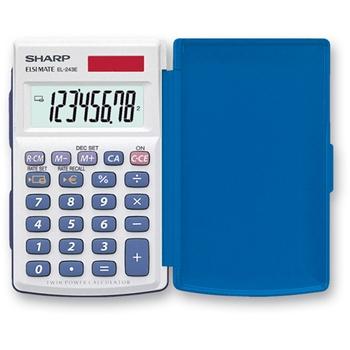 Sharp EL-243EB calcolatrice Tasca Calcolatrice di base Blu, Bianco