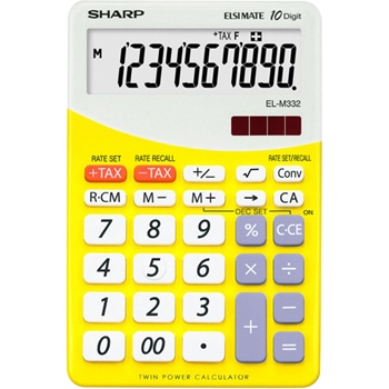 Sharp EL-M332BYL calcolatrice Tasca Calcolatrice di base Giallo