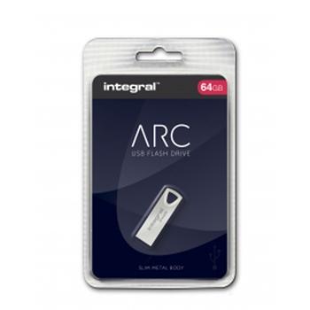 Integral ARC unità flash USB 64 GB USB tipo A 2 Argento